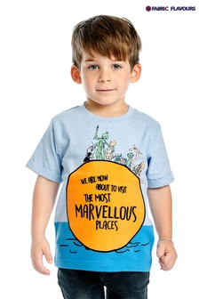 Fabric Flavours Blue Roald Dahl James And The Giant Peach T-Shirt