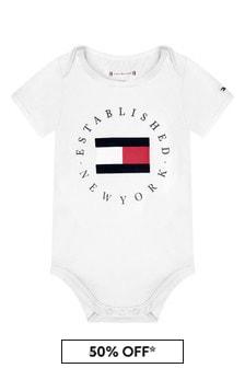 Tommy Hilfiger Baby White Cotton Bodysuit