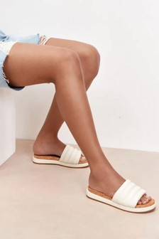 Ivory Forever Comfort® With Motion Flex Padded Mules