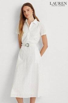 Lauren Ralph Lauren® White Rowen Shirt Dress
