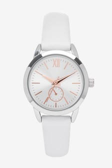 White Simple Strap Watch