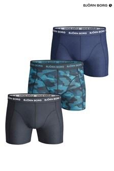 Bjorn Borg Blue Sammy BB Shadeline Shorts Three Pack