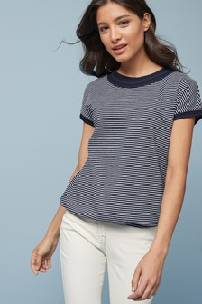 Navy Stripe Bubblehem T-Shirt