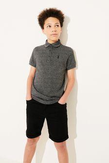 Black Denim Shorts (3-16yrs)