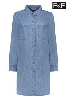 F&F Denim Shirt Dress