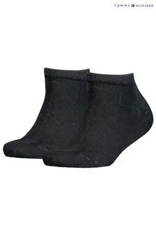 Tommy Hilfiger Black Trainer Socks 2 Pack