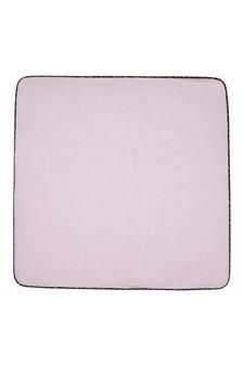 Baby Girls Pink Cotton Logo Blanket