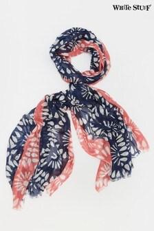 White Stuff Denim Flora Tie Dye Modal Scarf
