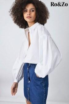 Ro&Zo White Cotton Poplin Shirt