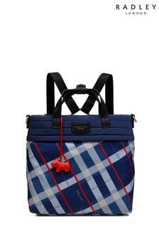 Radley London Penton Mews Check Medium Zip Top Backpack
