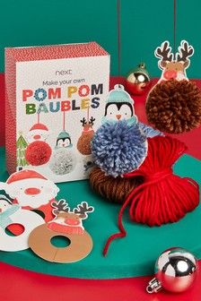 Pom Pom Bauble Craft Set