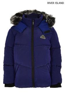 River Island Blue Padded Jacket
