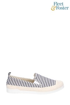 Fleet & Foster Blue Paradise Nautical Espadrille Loafers
