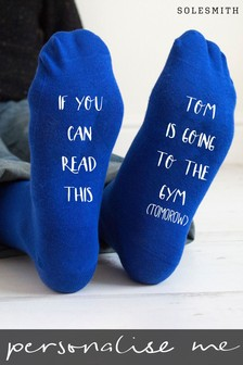 Personalised Going To The Gym Tomorrow Socks by Solesmith