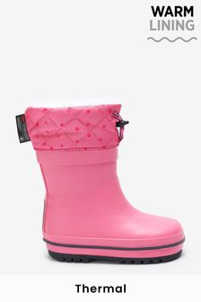 Pink Thinsulate™ Warm Lined Cuff Wellies