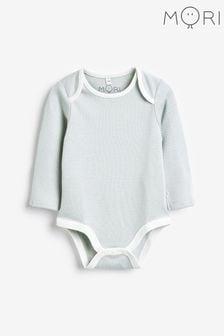 MORI Blue Long Sleeve Bodysuit