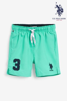 U.S. Polo Assn Green Player 3 Swim Shorts