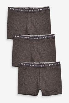 Charcoal 3 Pack Shorts (2-16yrs)