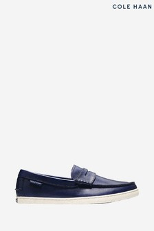 Cole Haan Blue Pinch Weekender Loafer Slip-On Shoes