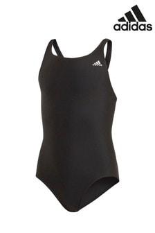 adidas Black Small Logo Swimsuit