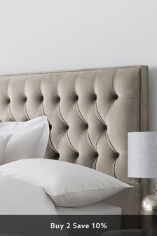 Opulent Velvet Pebble Parisian II Headboard