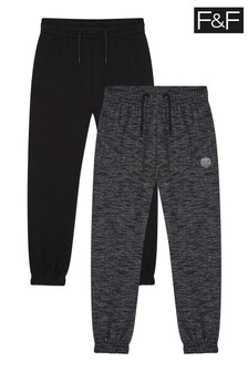 F&F Multi Black/Grey Joggers 2 Pack