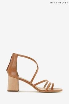 Mint Velvet Brown Florence Strappy Sandals