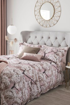 100% Cotton Sateen Blossom Duvet Cover And Pillowcase Set