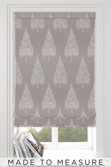 Coco Pewter Natural Made To Measure Roman Blind
