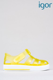 Igor Yellow Star Jelly Sandals