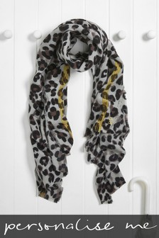 Personalised Leopard Print Scarf