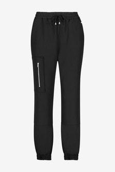 Black Zipped Casual Joggers