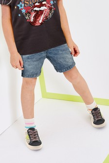 Denim Light Blue Board Shorts (3-16yrs)