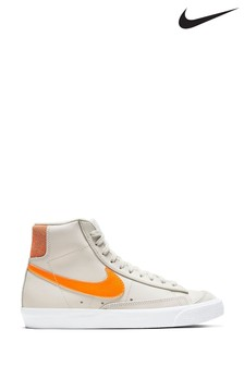 Nike Grey/Orange Blazer Mid Trainers