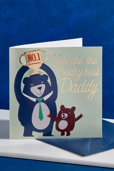 Pin Badge Father's Day Card