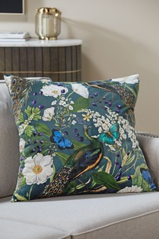 Limited Edition Oriental Peacock Cushion
