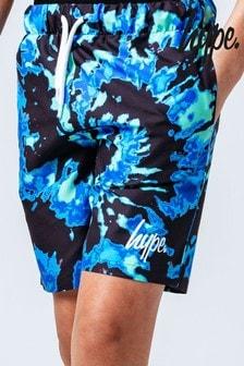 Hype. Blue Trippy Tiedye Print Swim Shorts