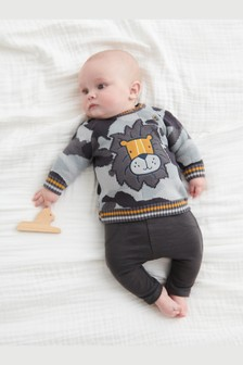 Camouflage Lion Knitted Jumper (0mths-2yrs)