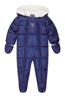 Baby Red Padded Snowsuit