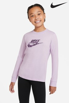 Nike Leopard Print Long Sleeve T-Shirt