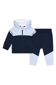 BOSS Baby Boys Navy Cotton Tracksuit