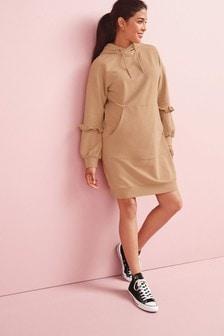 Camel Maternity Sweater Dress