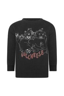 Baby Boys Grey Cotton Guccheese Sweatshirt