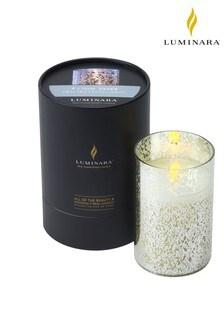 Luminara Living Flame Silver Mercury Glass Candle