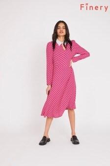 Finery Red Julieta Spot Print Dress
