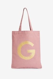 Pink Organic Cotton Reusable Bag For Life