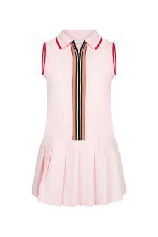 Burberry Kids Girls Pink Cotton Dress