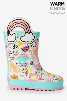 Doodle Rainbow Handle Wellies (Younger)