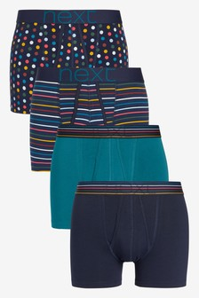 Teal Pattern A-Fronts Four Pack