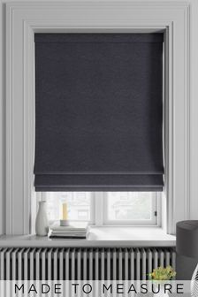 Soho Charcoal Black Made To Measure Roman Blind